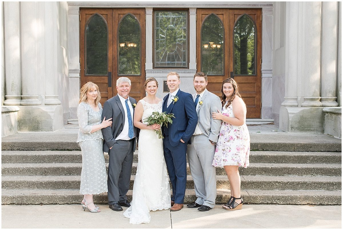 Immediate family members should be included on your family photo shot list for your wedding day.