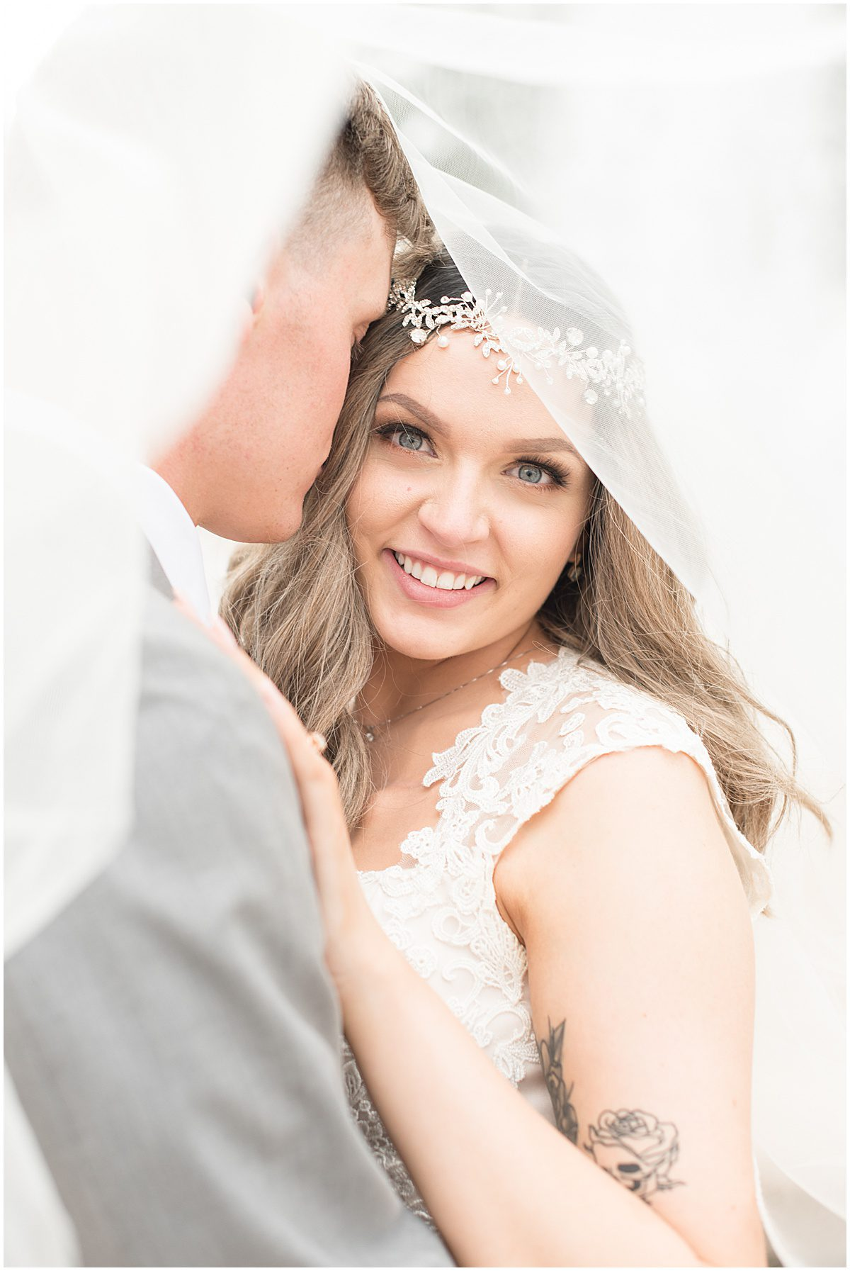 Wedding Photos in Downtown Lafayette, Indiana