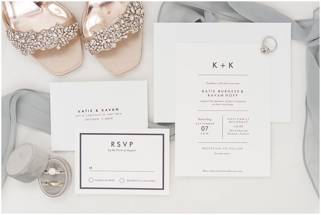 Wedding invitations for a neutral-colored wedding
