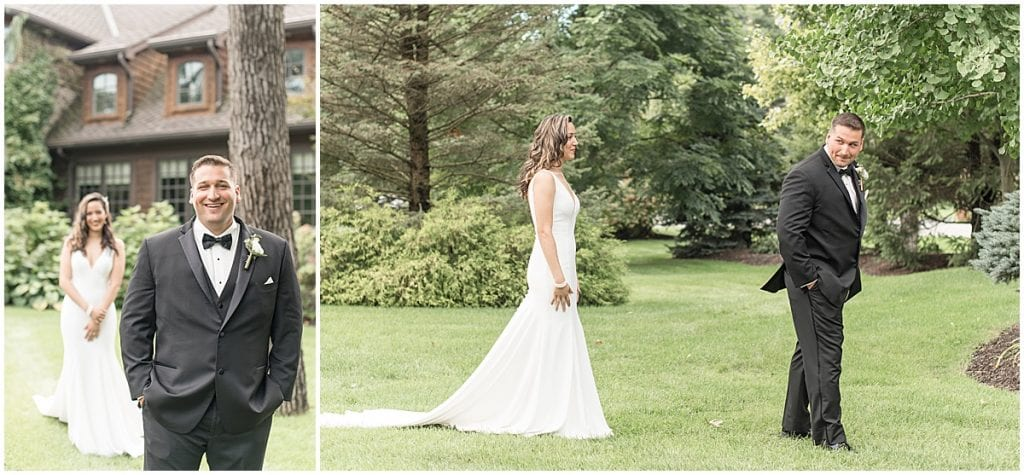 First look at a wedding in Demotte, Indiana