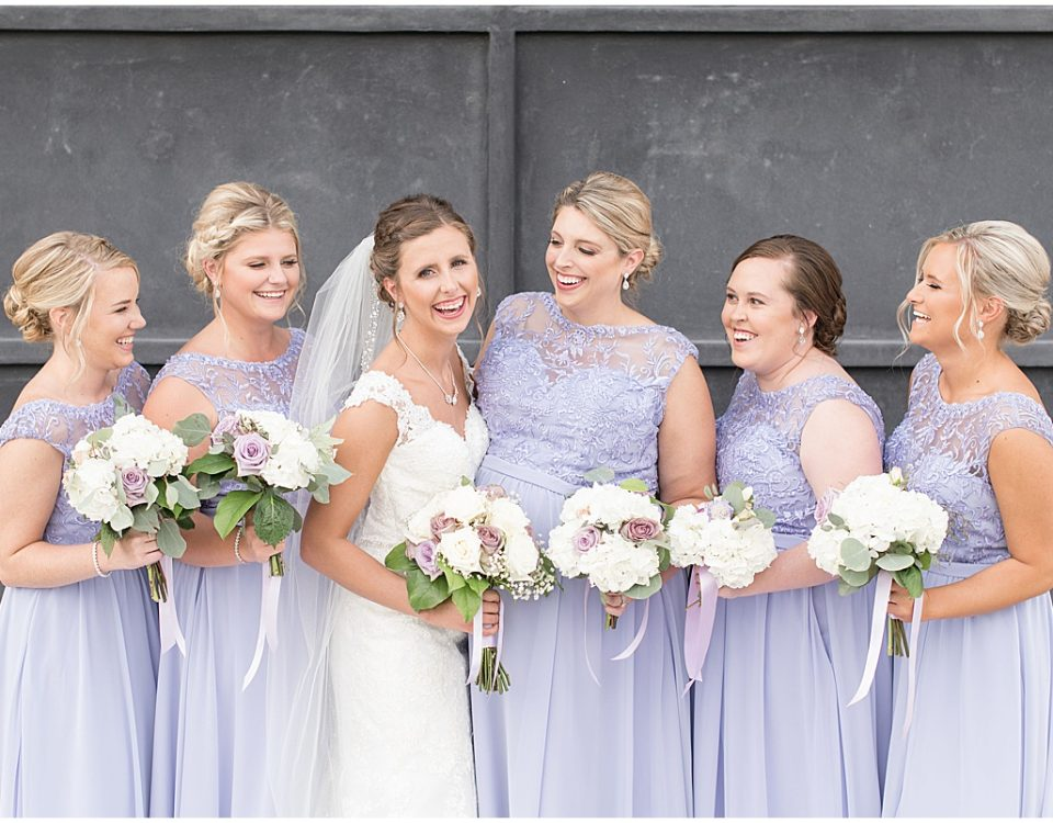 How to Choose the Perfect Hairstyle for Your Wedding Day: Bride with her bridesmaids ready for wedding