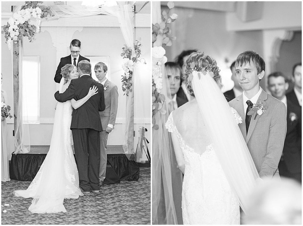 Wedding ceremony at The Matterhorn in Elkhart, Indiana