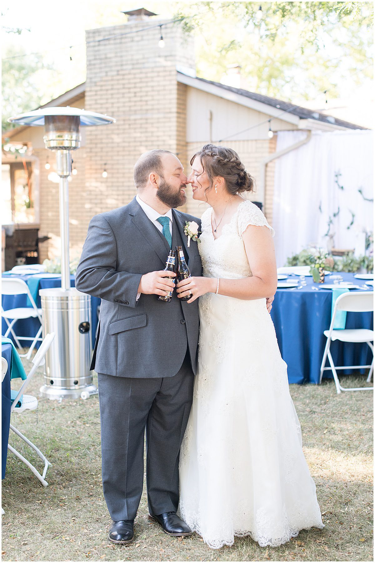 Reception photos for intimate wedding at Holliday Park in Indianapolis