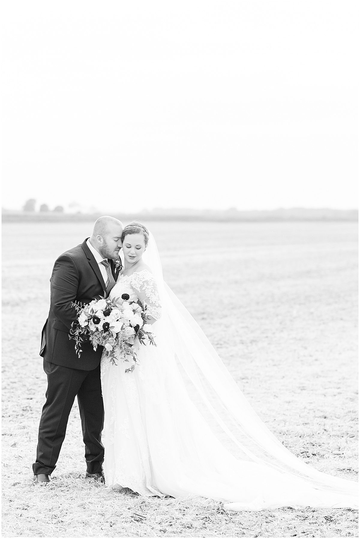 Bride and groom photos at Meadow Springs Manor wedding in Francesville, Indiana