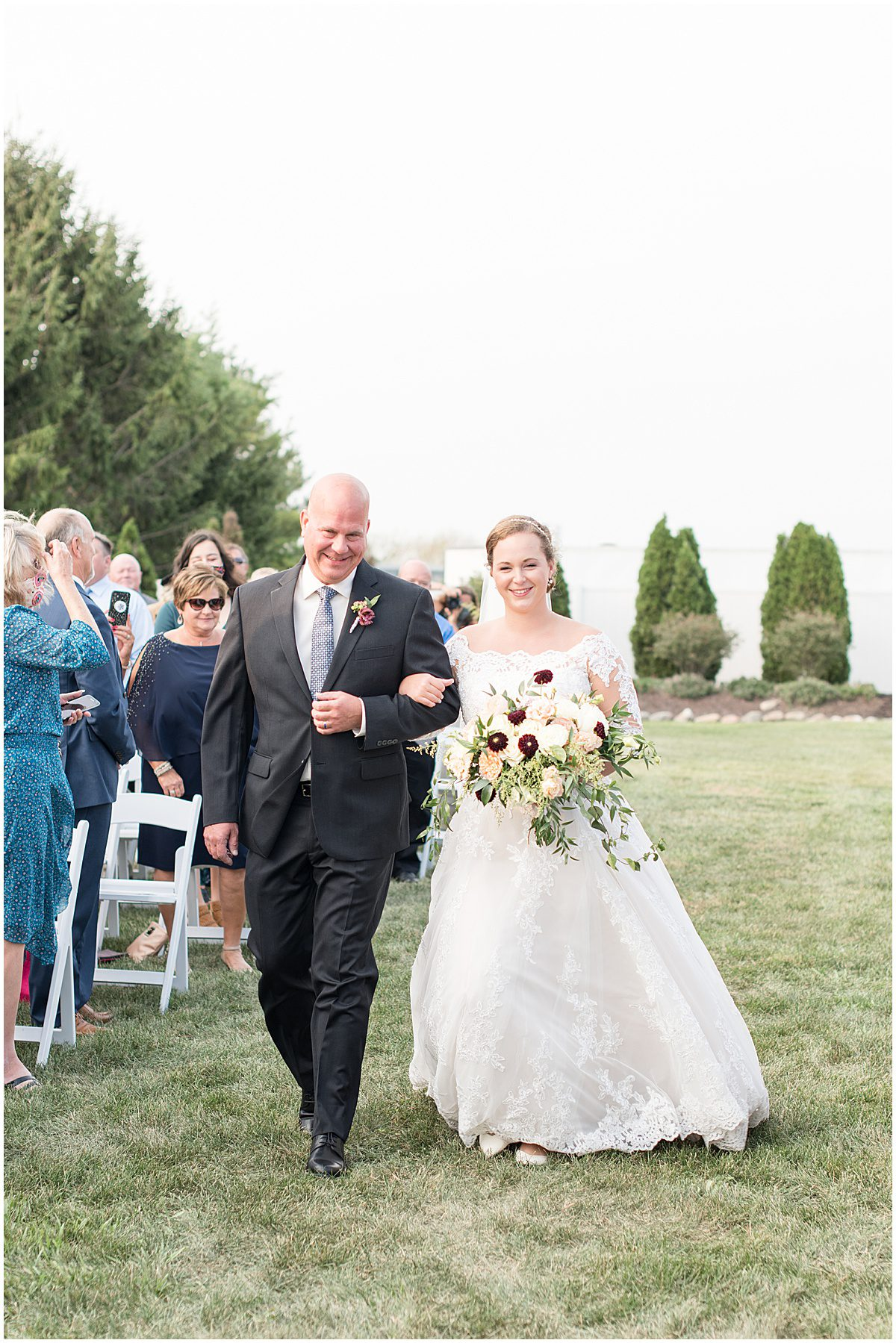 Ceremony photos at Meadow Springs Manor wedding in Francesville, Indiana