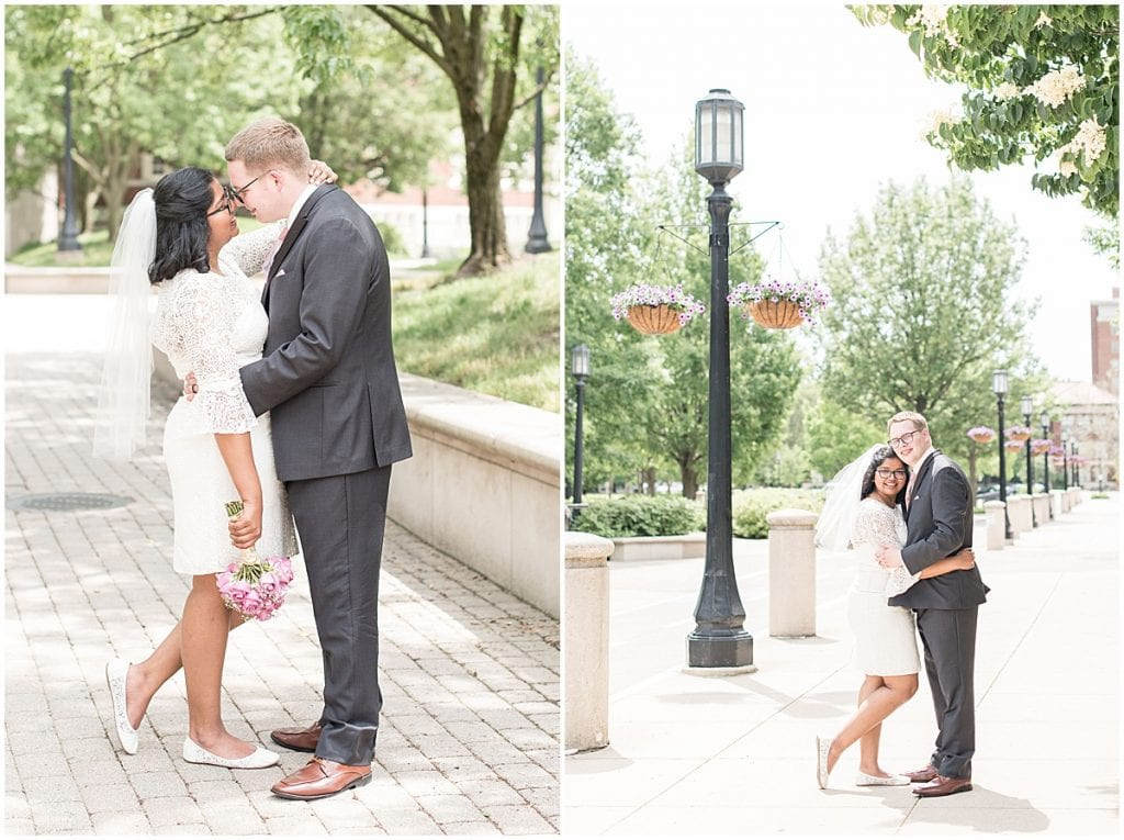 Wedding photos at Purdue University during COVID by Victoria Rayburn Photography