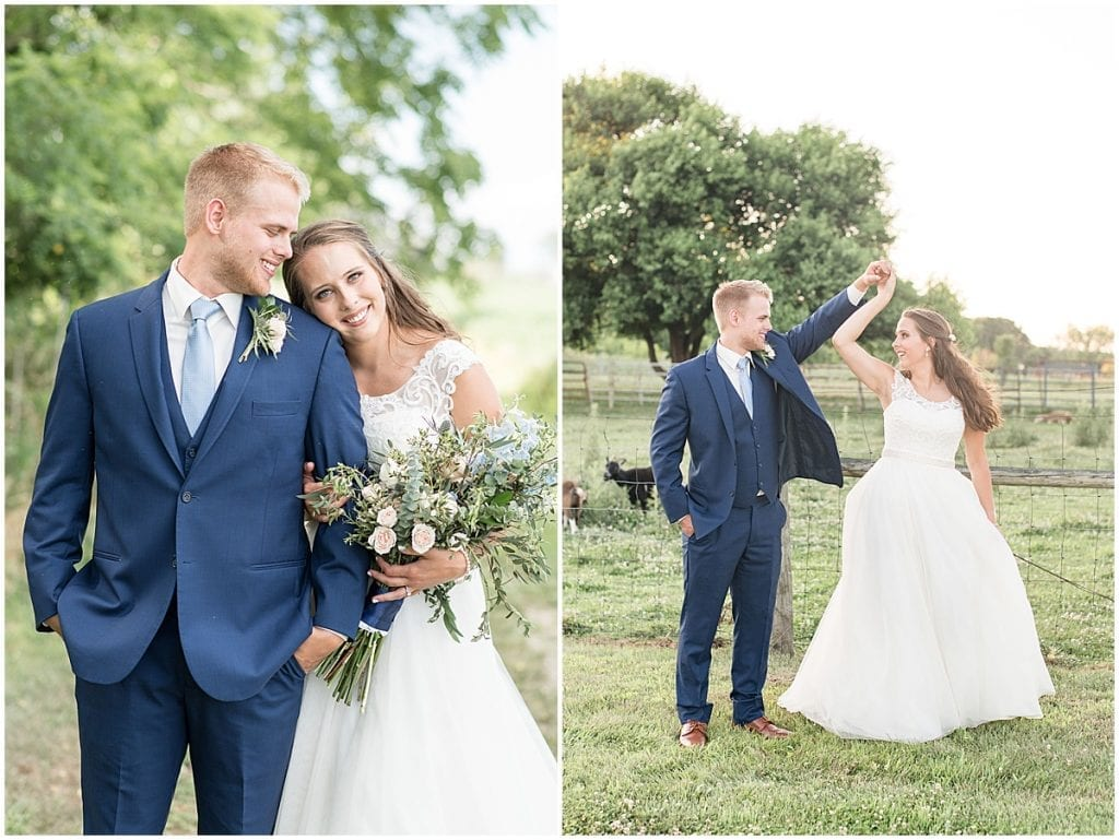 Just married photos at The Blessing Barn in Lafayette, Indiana by Victoria Rayburn Photography