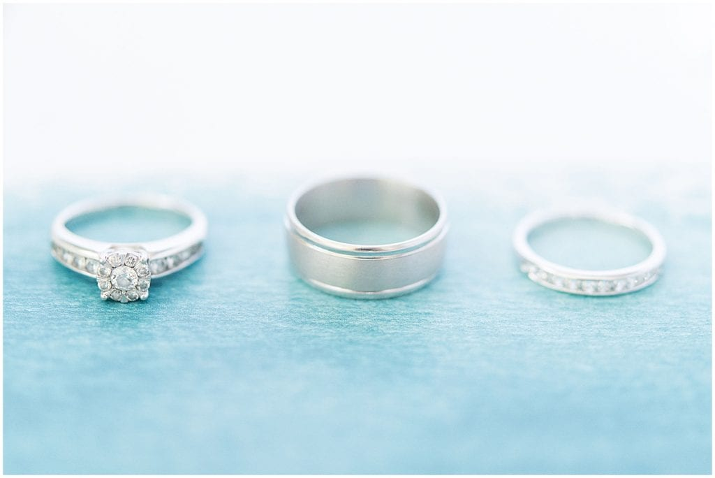 Ring details from Cornerstone Christian Church wedding in Brownsburg, Indiana by Victoria Rayburn Photography