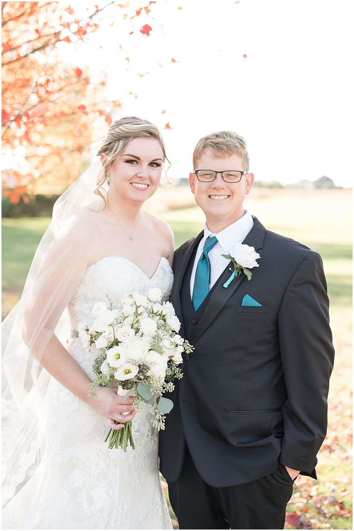 Just married photos after Cornerstone Christian Church wedding in Brownsburg, Indiana by Victoria Rayburn Photography