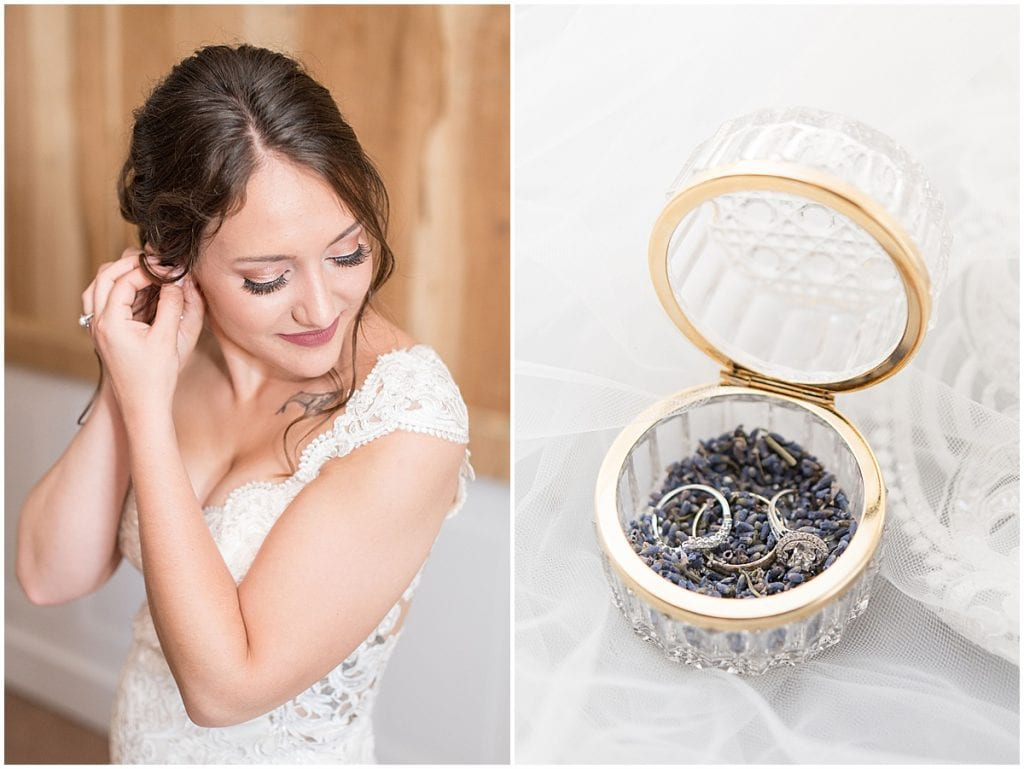 Bridal details for Hunny Creek Haven Wedding in Waldron, Indiana by Victoria Rayburn Photography
