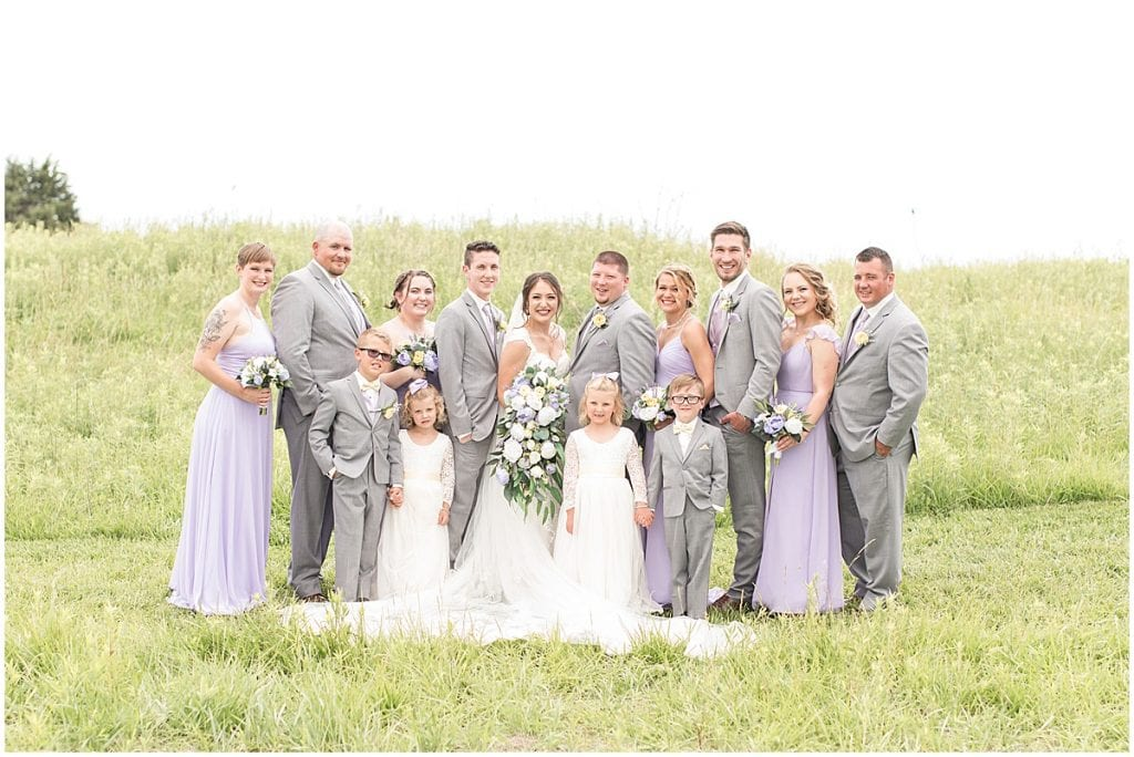 Wedding party at Hunny Creek Haven Wedding in Waldron, Indiana by Victoria Rayburn Photography