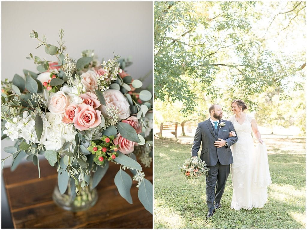 Floral details for intimate wedding at Holliday Park in Indianapolis by Victoria Rayburn Photography