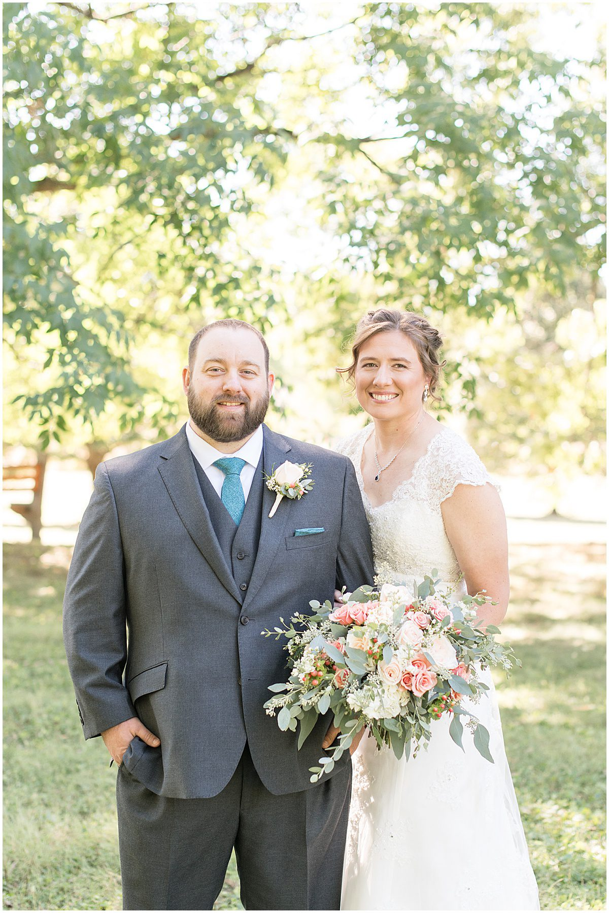 Bride and groom portraits for intimate wedding at Holliday Park in Indianapolis by Victoria Rayburn Photography