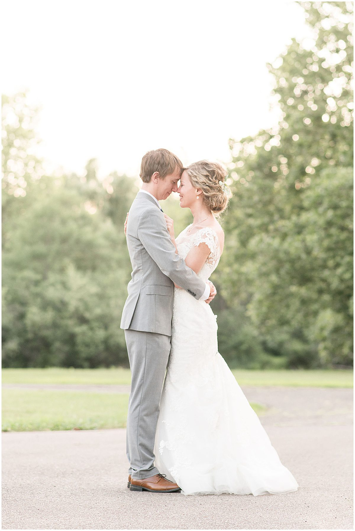 Just married photos after wedding at The Matterhorn in Elkhart, Indiana by Victoria Rayburn Photography