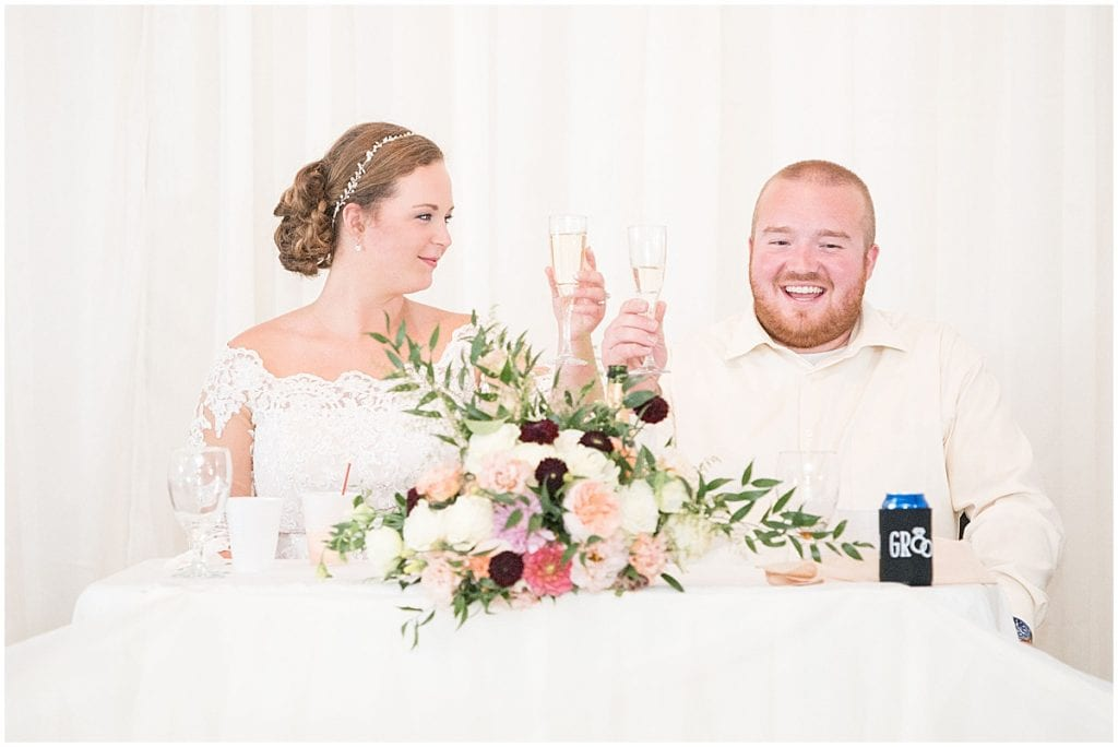 Wedding reception after Meadow Springs Manor wedding in Francesville, Indiana by Victoria Rayburn Photography
