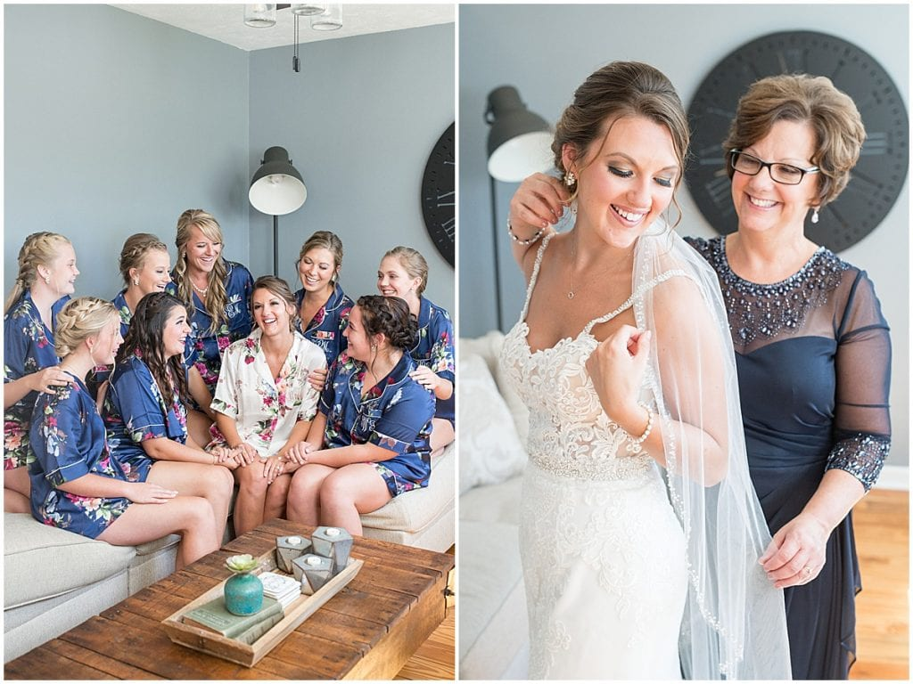 Bride getting ready for Rensseler, Indiana wedding by Victoria Rayburn Photography