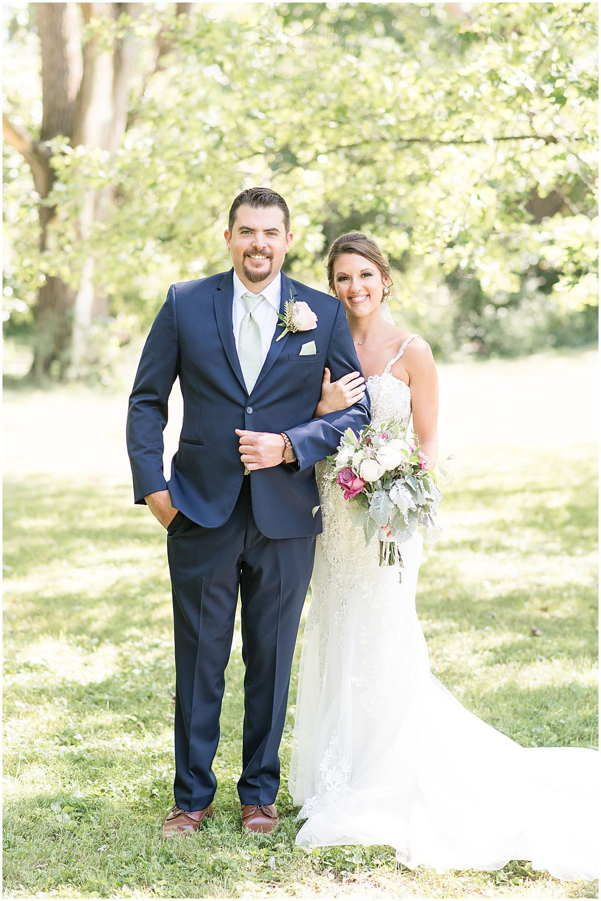 Bride and groom photos at Rensseler, Indiana wedding by Victoria Rayburn Photography