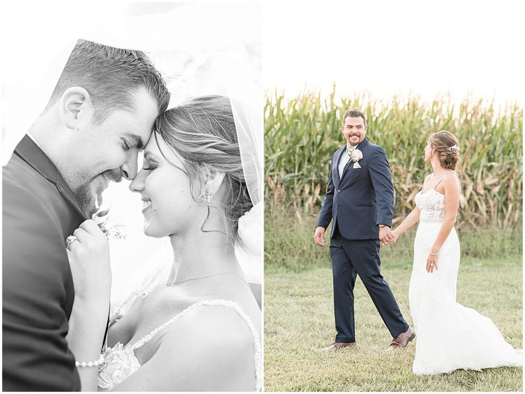 Just married photos after Rensseler, Indiana wedding by Victoria Rayburn Photography