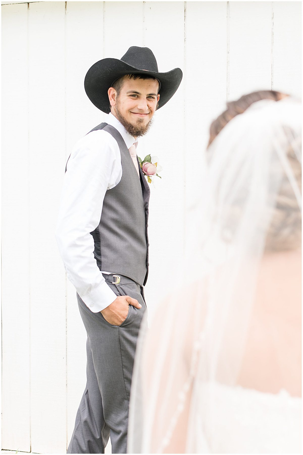 First look at Wea Creek Orchard wedding in Lafayette, Indiana