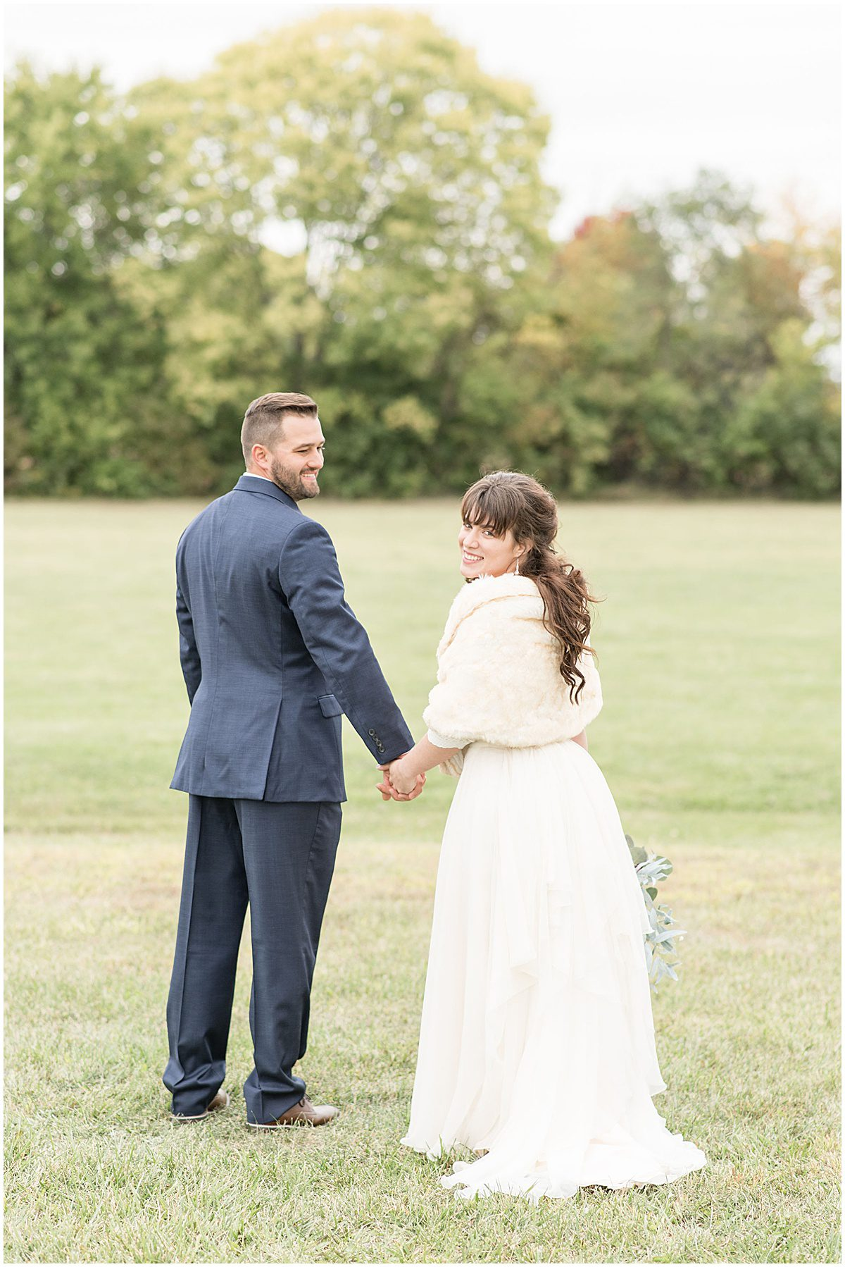 Just married photos after wedding at Innovation Church in Lafayette, Indiana by Victoria Rayburn Photography